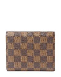 Louis Vuitton Brown Vintage Damier Ebene Koala Push-lock Wallet