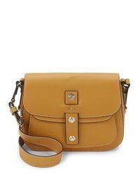 Furla Brown Emma Flap Leather Shoulder Bag