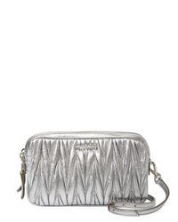 Miu Miu Metallic Leather Crossbody Bag
