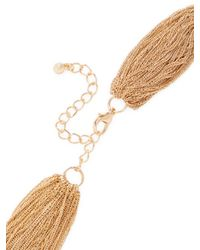 Kenneth Jay Lane - Metallic Gold Multi Row Necklace - Lyst