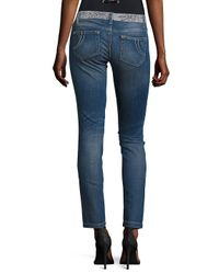 Maje Blue Embellished Straight-fit Jeans