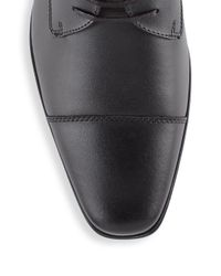 Calvin Klein Black Bachman Leather Lace-up Shoes for men