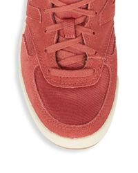 New Balance - Red Lace-up Low-top Sneakers for Men - Lyst