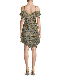 Kendall + Kylie - Multicolor Floral-print Ruffled Wrap Dress - Lyst