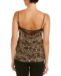 The Kooples Brown Lace-trim Silk Cami