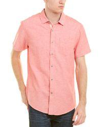Report Blue Collection Linen-blend Woven Shirt for men