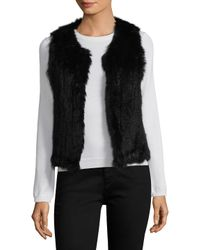 525 America Black Rabbit Fur Vest