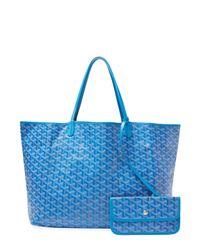 Goyard Vintage Blue Ciel Ine Saint-louis Gm