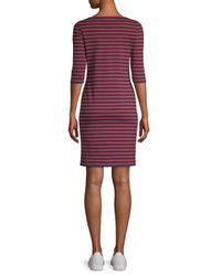 Saint James - Purple Propriano Striped Shift Dress - Lyst