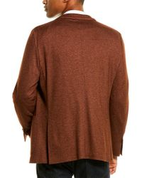Corneliani Brown Cashmere & Silk-blend Sportscoat for men