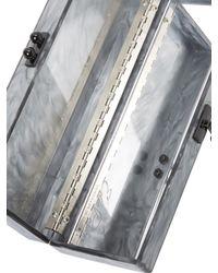 Edie Parker Metallic Flavia Rectangular Clutch