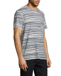 7 For All Mankind Blue Ss Abstract Stripe T for men