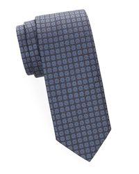 Brioni Blue Floral Silk Tie for men