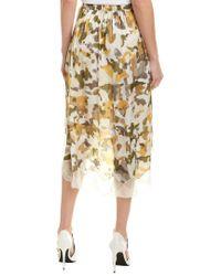 Zadig & Voltaire Natural Joslin Camou Sateen Skirt