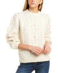DEMYLEE White Rosamonde Wool & Mohair-blend Sweater