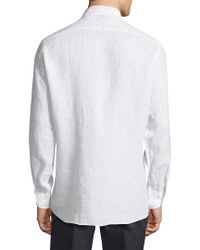 Luciano Barbera - White Printed Sportshirt for Men - Lyst