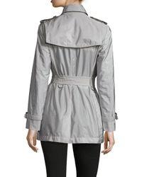 Burberry Gray Kerringdale Lightweight Trench Coat