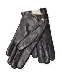 Maison Fabre - Black Leather Driving Gloves - Lyst