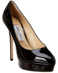 Jimmy Choo Black Jenara Patent Pump