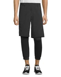Armani Exchange - Black Two-in-one Tight Shorts for Men - Lyst