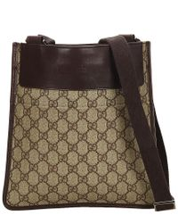 4fa601f37ab Gucci Brown Gg Supreme Canvas   Leather Crossbody in Brown for Men ...