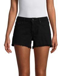 Derek Lam Black Quinn Girlfriend Cotton Shorts