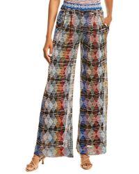 Missoni Blue Pleated Silk-lined Pant
