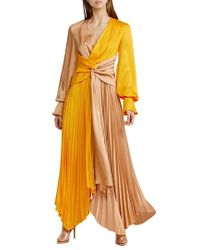 Acler Multicolor Empire Maxi Dress