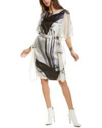 Max Mara Black Nancy Silk Shift Dress