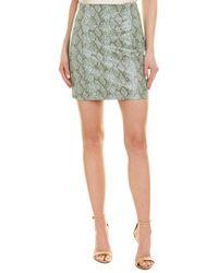 Ronny Kobo Green Rida Snakeskin - Print Mini Skirt