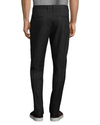 Armani Exchange Black Plaid Casual Twill Pants for men