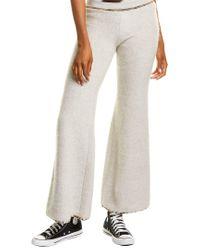 Missoni Gray Fuzzy Wool, Mohair, & Alpaca-blend Pant