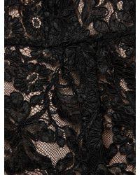 Miu Miu Black Lace Peplum Top