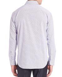 Giorgio Armani Purple Modern-fit Checked Cotton Dress Shirt for men