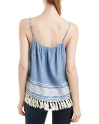 Soft Joie Blue Agneza Linen-blend Top