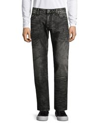 Robin's Jean Black Washed Cotton Jeans for men