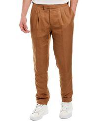 Reiss Brown Alabama Linen-blend Trouser for men