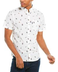 Original Penguin White Woven Shirt for men