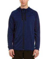 Nike Blue Dry Hoodie Jacket for men