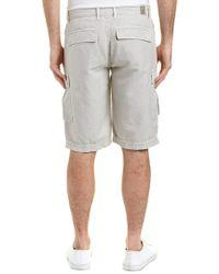 AG Jeans Natural Bunker Sulfur Quartz Linen-blend Cargo Short for men
