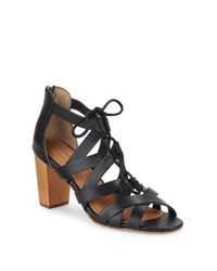 Corso Como Black Gorgi Leather Sandals