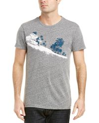 Sol Angeles Gray Palm Diamonds T-shirt for men