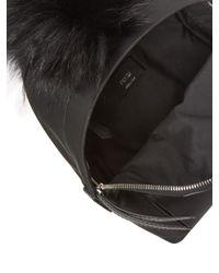 Fendi Black Monster Mini Mixed Media Backpack
