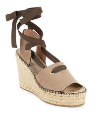 Bettye Muller Natural Christina Lace-up Espadrille Platform Sandals
