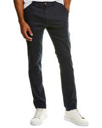 Grayers Blue Bermuda Linen-blend Stretch Slim Fit Pant for men