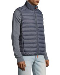Save The Duck - Gray Basic Solid Vest for Men - Lyst