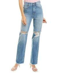 Alice + Olivia Blue Amazing High-rise Not Yours Boyfriend Fit Jean