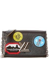Louis Vuitton Limited Edition Black Epi Leather World Tour Twist Wallet On Chain