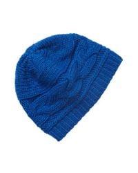Portolano - Blue Knit Beanie - Lyst