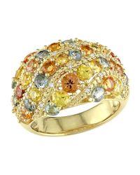 Rina Limor - Metallic Multi-color Sapphire Wave Dome Ring - Lyst
